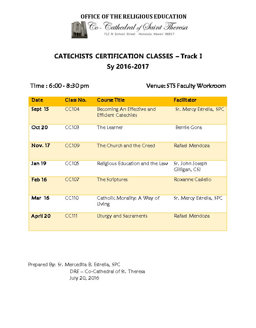 Co Cathedral Of St Theresa Of The Child Jesus Catechists